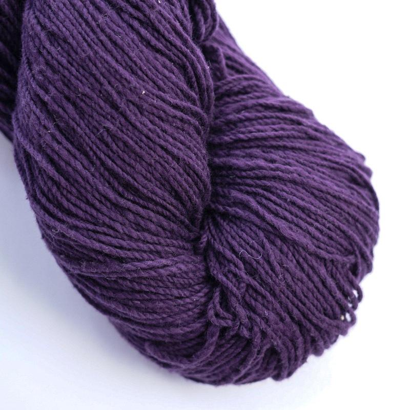 オーガニックコットン手つむぎ糸|417/2 カラー60色 古代紫
