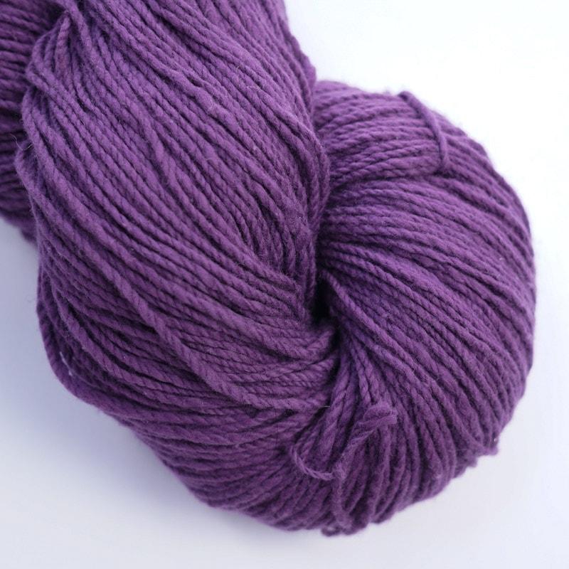 オーガニックコットン手つむぎ糸|417/2 カラー60色 菖蒲色