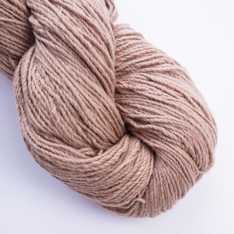オーガニックコットン手つむぎ糸|417/2 カラー60色 赤白橡