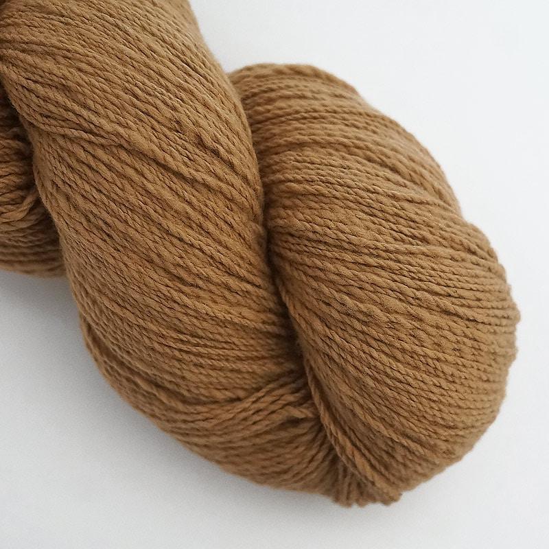 オーガニックコットン手つむぎ糸|417/2 カラー60色 茶綿