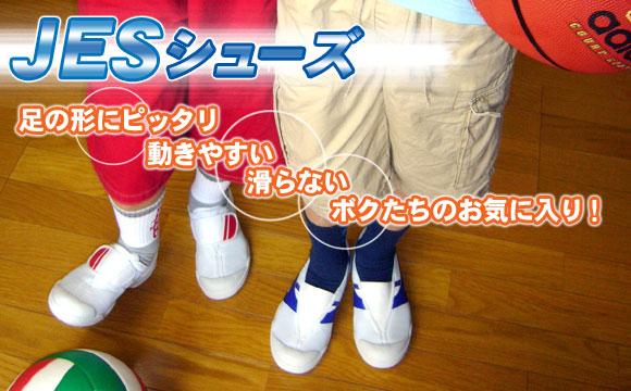 JESシューズは足の形にぴったり!動きやすい、滑らない、ボクたちのお気に入り!