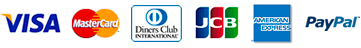 VISA/MASTER/DINERS/JCB/AMEX/PayPal