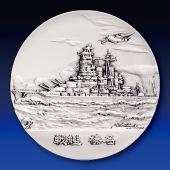 日本海軍の艦艇 純銀製45mmメダル 戦艦 榛名