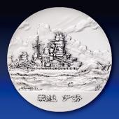 日本海軍の艦艇 純銀製45mmメダル 戦艦 伊勢