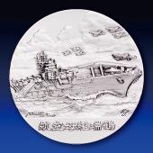 日本海軍の艦艇 純銀製45mmメダル 航空母艦 瑞鶴