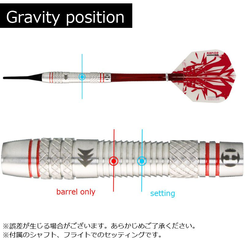 【Harrows】RAPIDE 90% Style A  ソフトダーツ ハローズ ラピード 18gK