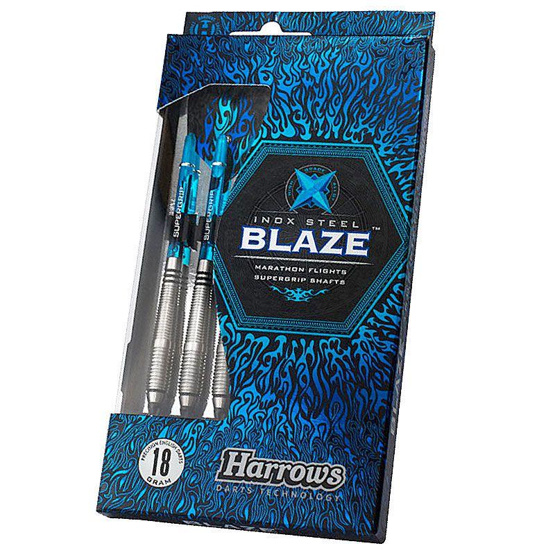 【今ならチップ50ピースを2種類プレゼント!】【Harrows】BLAZE Style A ハローズ ソフトダーツバレル ステンレス ブレイズ 16gR