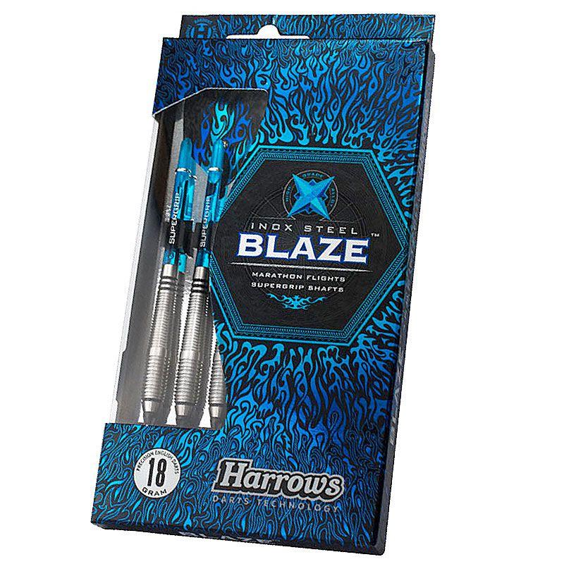 【今ならチップ50ピースを2種類プレゼント!】【Harrows】BLAZE Style B ハローズ ソフトダーツバレル ステンレス ブレイズ 18gR