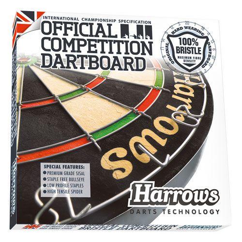 【Harrows】 OFFICIAL COMPETITION DARTS BOARD ハローズ オフィシャル ダーツボード 13.2インチ
