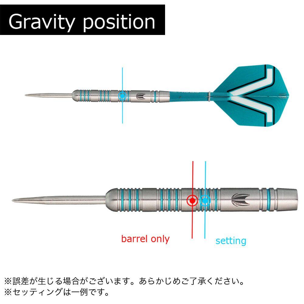 【target】ROB CROSS 80% STEEL 22g ターゲット ロブクロス ハード ダーツ