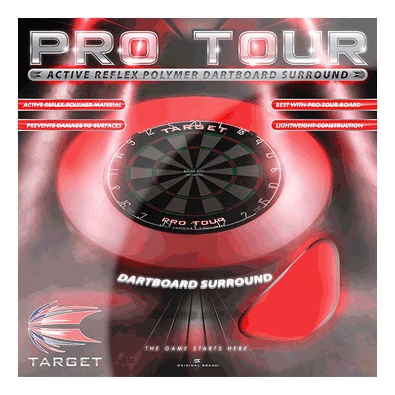 【target】ターゲット プロツアー ダーツボードサラウンド PRO TOUR SURROUND レッド
