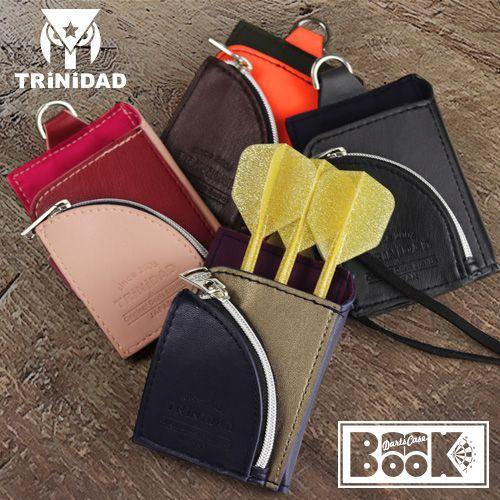【Trinidad】ダーツケースBOOK ネイビー×ゴールド トリニダード ブック