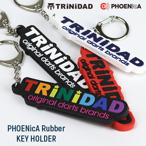 【Trinidad】 PHOENicA ラバーキーホルダー ホワイト  トリニダード×フェニカ フェニックスゲームカード ソフトダーツ用