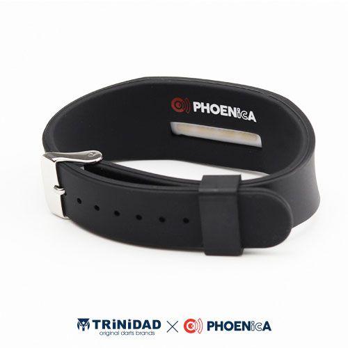 【Trinidad】 PHOENicA  ラバーリストバンド ブラック トリニダード フェニカ ゲームカード