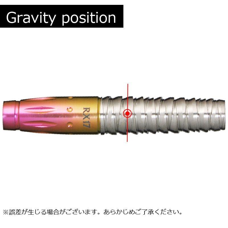 【Samurai fusion】 サムライ ソフトダーツ タングステン&チタニウム フュージョン バレル RX17