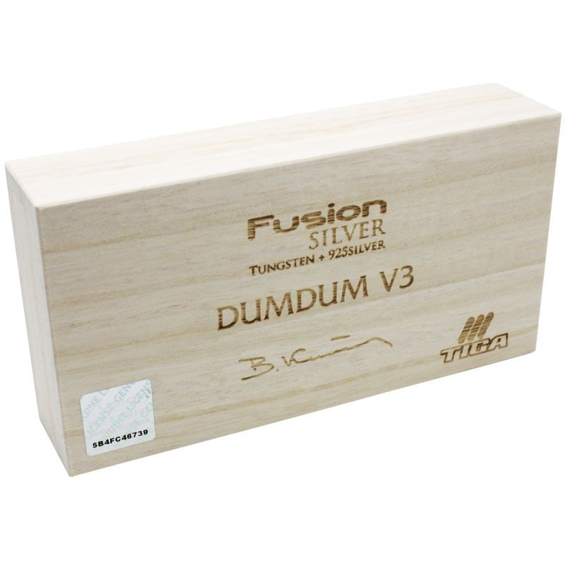 【Tiga】FUSION SILVER DUMDUM  V3 ティガダーツ フュージョンシルバー 純銀×タングステンダーツ バレル ダムダム Boris Krcmar ボリス