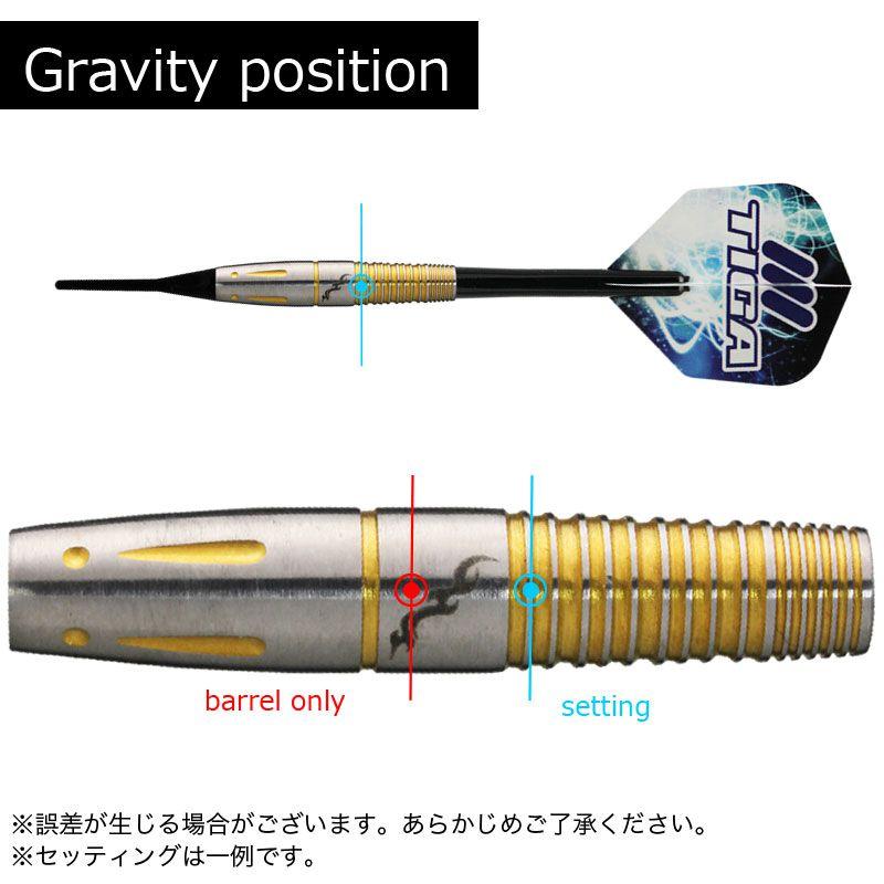 【Tiga】ZERO GRAVITY ティガ タングステン ソフトダーツ 大崎 裕一選手モデル