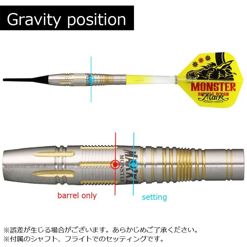 【Monster】 MARK3 ゴールドコーティング モンスター ソフトダーツ マーク3 タングステン90% 2BA