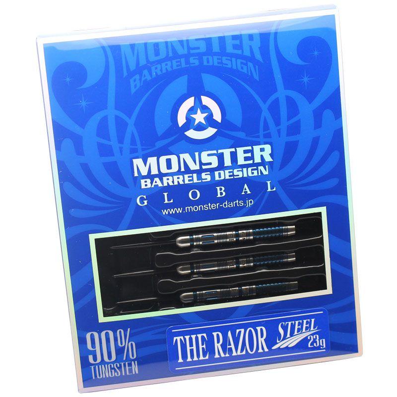 【Monster】THE RAZOR STEEL モンスター レイカーバーモデル RAY CARVER ハードダーツ タングステン バレル レーザー