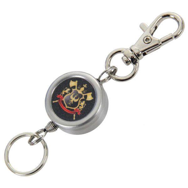 【S4】 リールキーホルダー  騎士の紋章 エスフォー ダーツケースと一緒にお勧め 伸びるキーホルダー