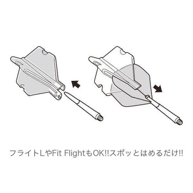 【EDGE】 フライトスロットケース ブラックファイヤー レッドカラーベース