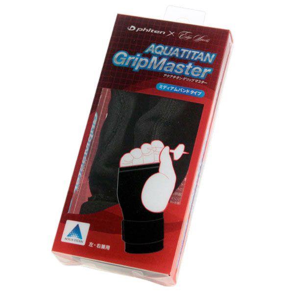 【Phiten/ファイテン】 アクアチタングリップマスター(手首用サポーター) ミディアムバンド [ダーツサポーター]
