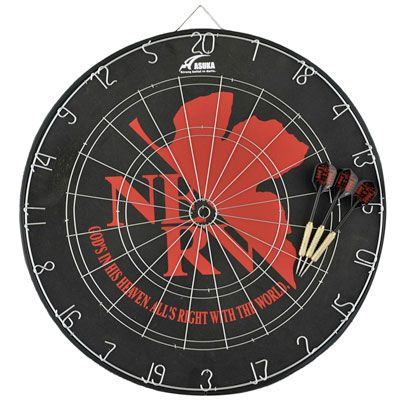 【アウトレット30%引き】【パッケージ破損アリ】【EVA】 エヴァンゲリオン ペーパーダーツボード(13.2インチ) [ダーツボード]