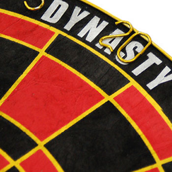 【DYNASTY】 15.5インチハードダーツボードEMBLEM Queen  エンブレムクイーン ワイヤレスType-B ブラック×レッド