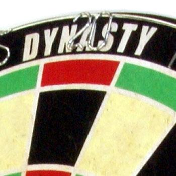 【DYNASTY】 15.5インチハードダーツボードEMBLEM Queen エンブレムクイーン ワイヤレス Type-K グリーン×レッド