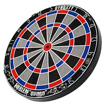 【DYNASTY】 15.5インチハードダーツボードEMBLEM Queen エンブレムクイーン ワイヤレスTypeS ブルー×レッド