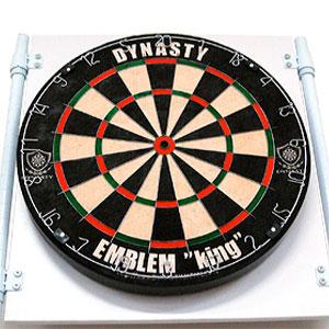 【Dynasty】ダーツボード専用スタンド DY01 ブラック ダーツ収納パネル付きスタンド