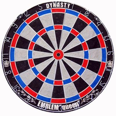 【DYNASTY】エンブレムクイーン TypeS ブルー×レッド ハードダーツボード 15.5インチ ダーツ