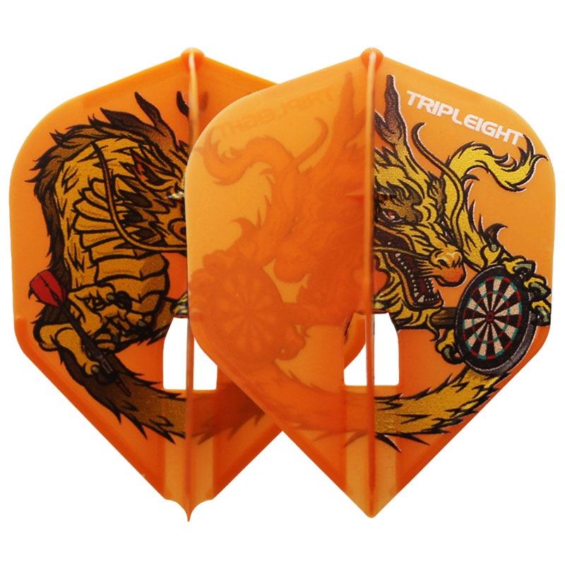 【Dynasty】FlightL RYUKI シェイプ スモール オレンジ ダイナスティ フライトエル 森窪 龍己 ダーツ用