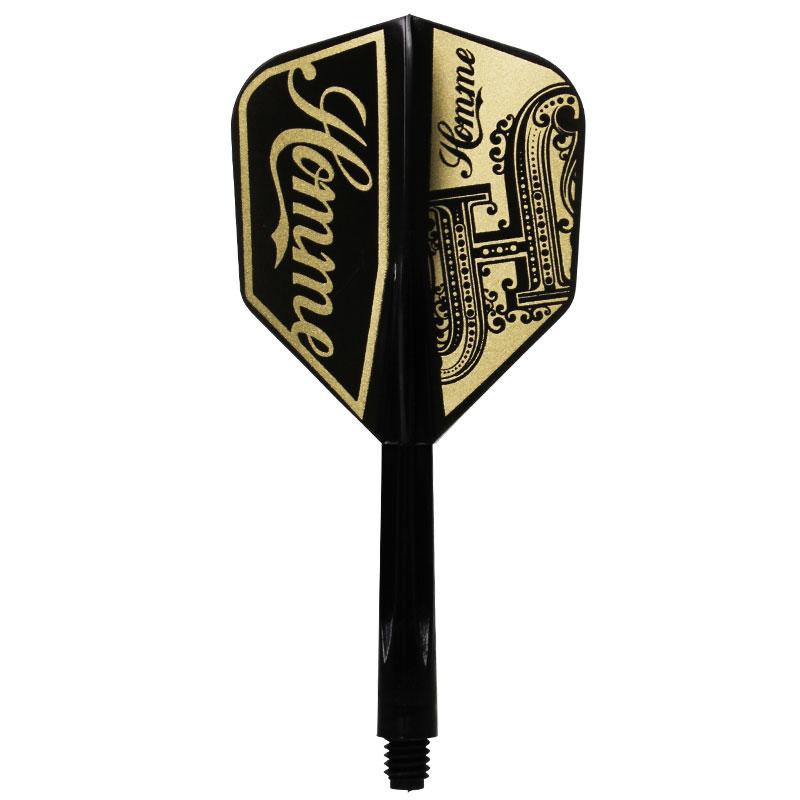【CONDOR】 コンドルSE-O Homme ブラックゴールドベース コンドル×プロプレイヤー ダーツ用 フライトシャフト一体パーツ