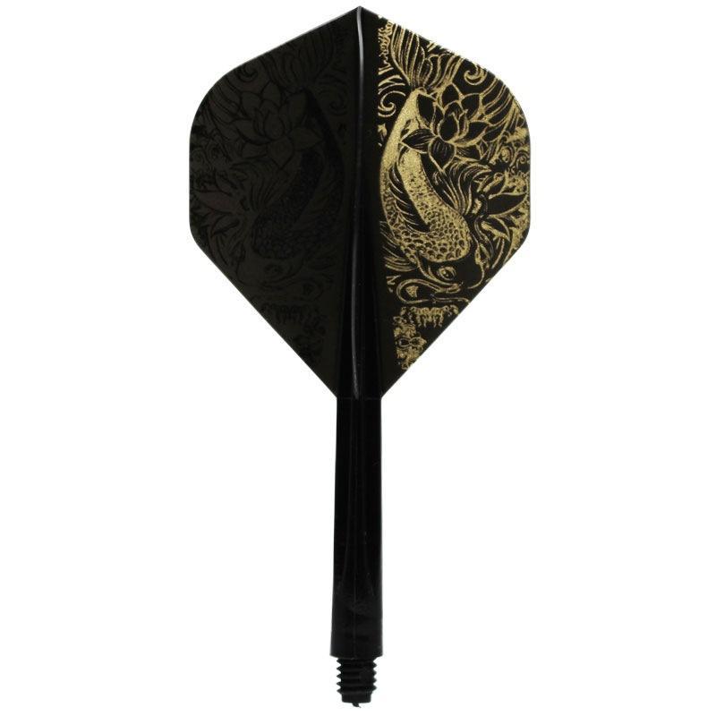 【CONDOR】 コンドルLEE 鯉 ブラックゴールドベース  コンドル×プロプレイヤー ダーツ用 フライトシャフト一体パーツ
