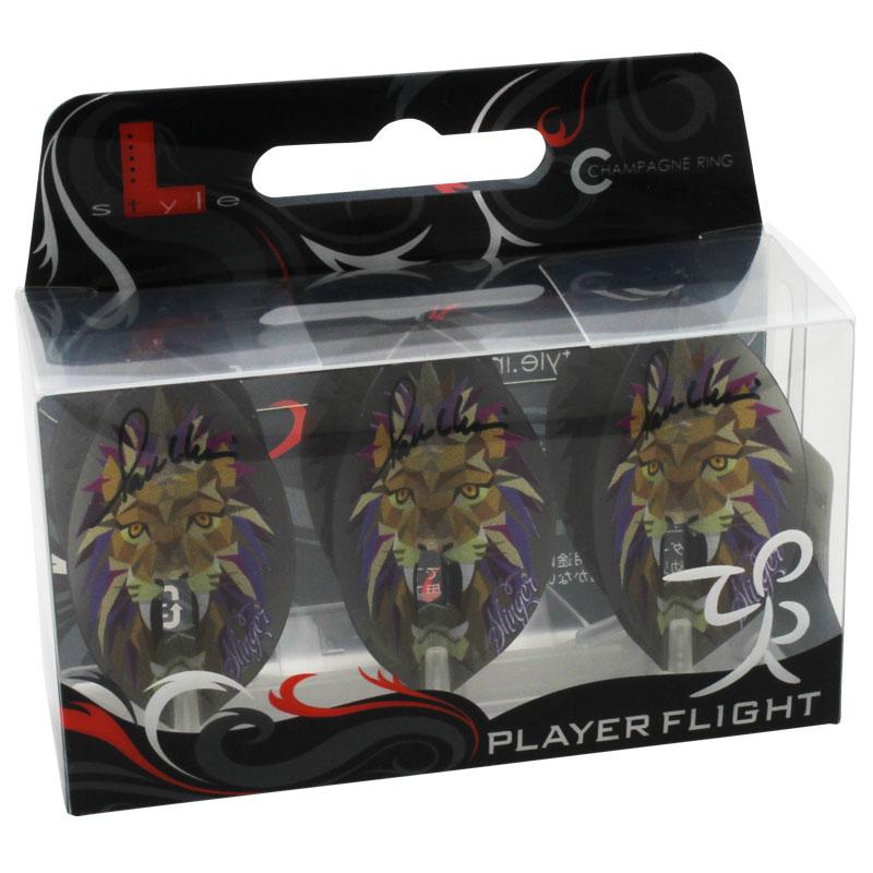 【FlightL】Paul Lim ver.2 NEW ポールリム×フライトエル L2 ティアドロップ シャンパンリング対応  クリアブラックベース ダーツ用