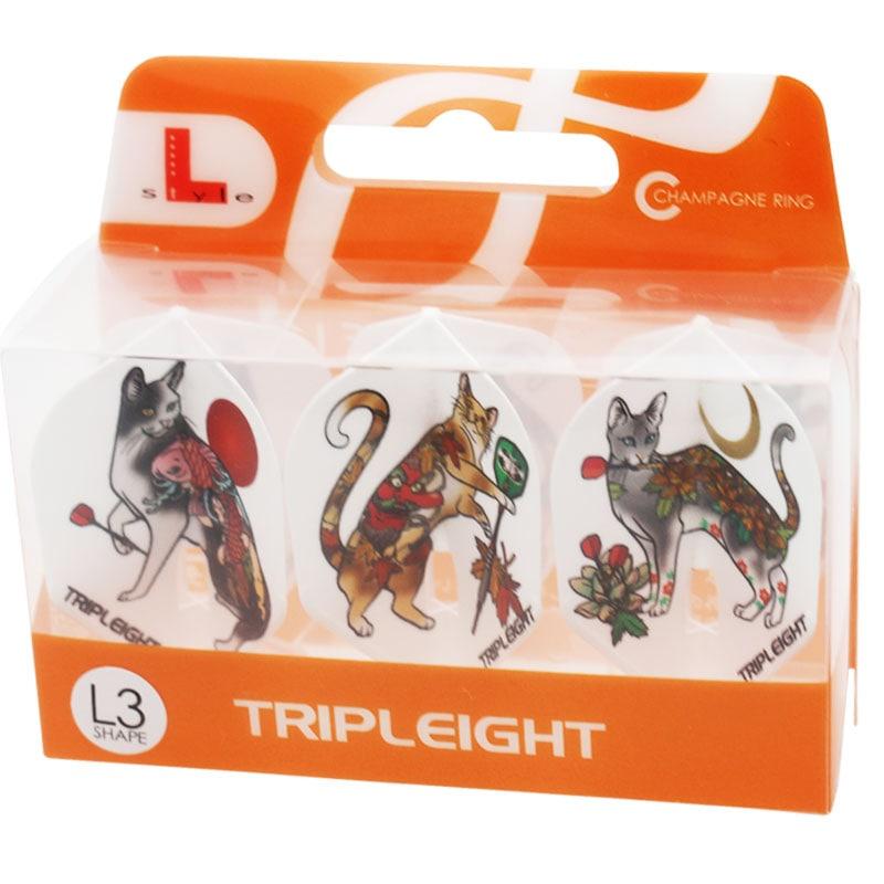 【888×フライトエル】Tattoo Neko Tripleight×FlightL タトゥーネコ L3 トリプレイト スモール(シェイプ) ダーツ用