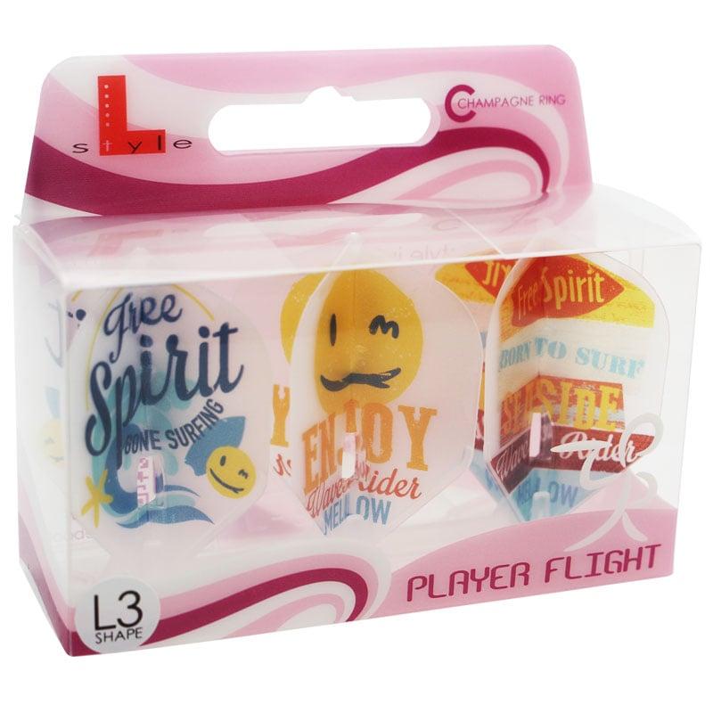 【FlightL】大内 麻由美ver3 L3 スモール シャンパンリング対応  クリアホワイトベース フライトエル×プロプレイヤー