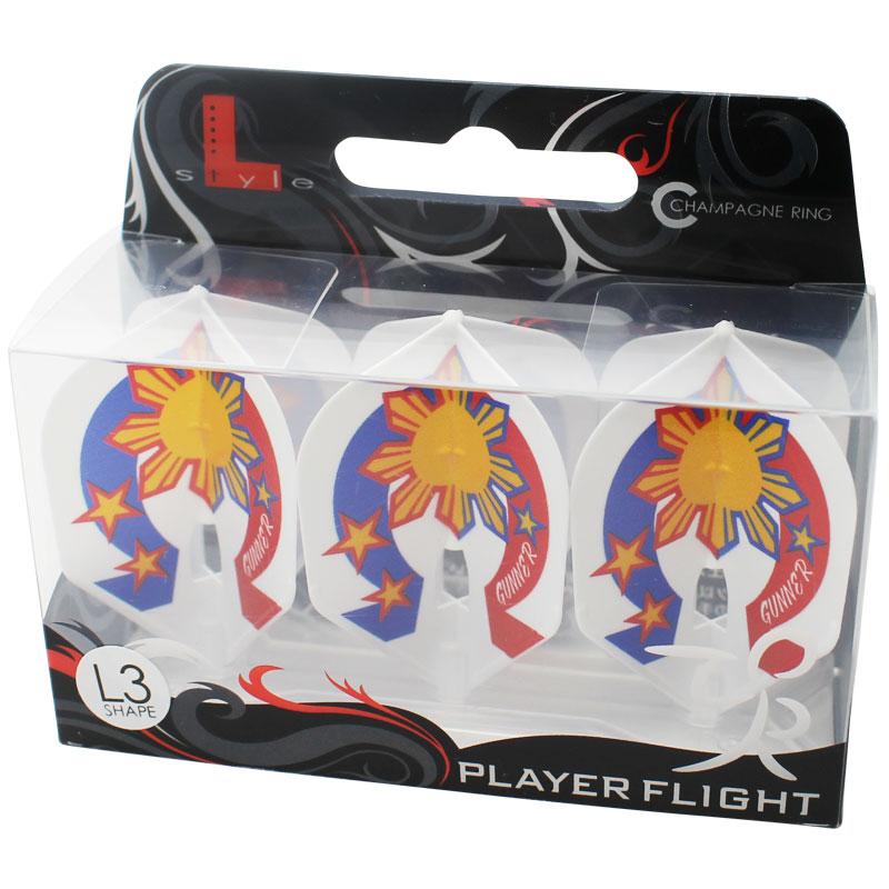 【FlightL】ローレンスイラガン ver3 シェイプ L3 シャンパンリング対応 ホワイトベース ダーツフライト