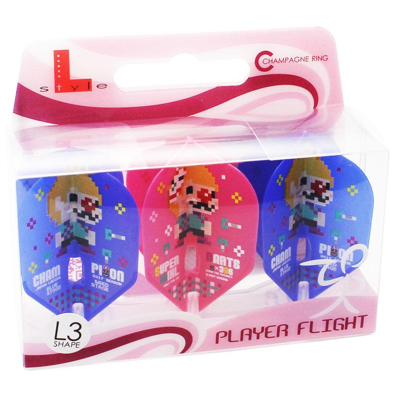 【FlightL】鈴木未来 JAPAN2017 L3 優勝記念デザイン シャンパンリング対応 スモール シェイプ カラーミックス フライトエル×プロプレイヤー