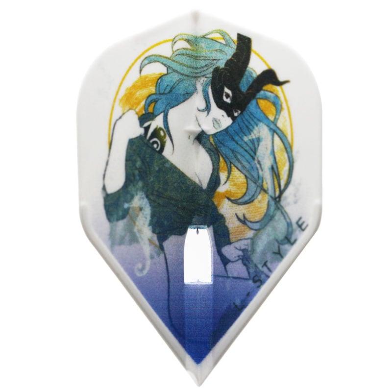 【FlightL】zodiac カプリコーン   L1 スタンダード形状 シャンパンリング対応 ホワイトベース フライトエル ゾディアック ダーツ