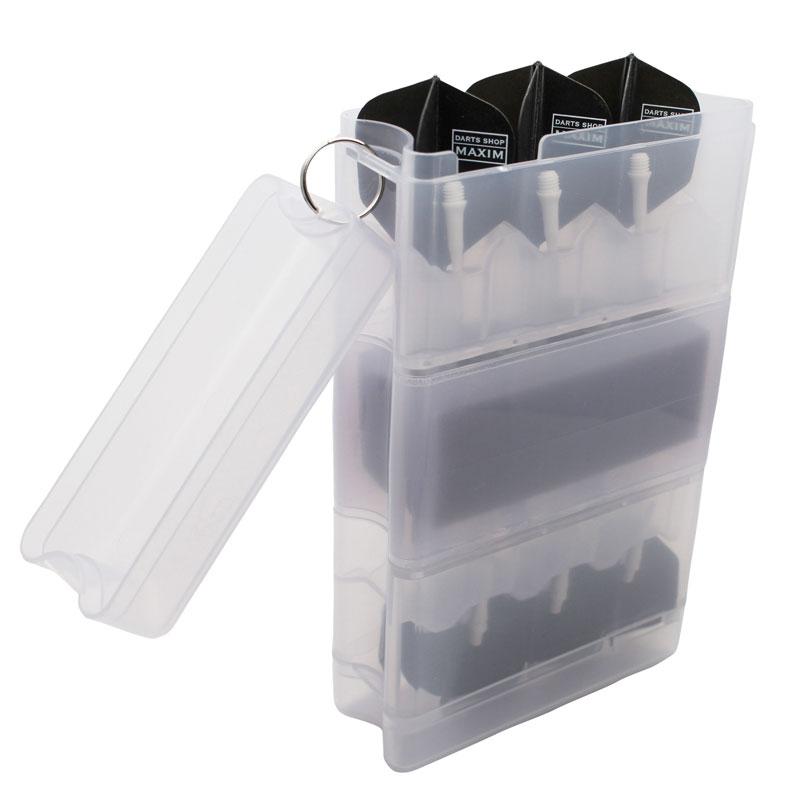 ダーツケース 全知全能 セッティングダーツ2セット収納プラスチックボックスケースNEWカラー グリーン