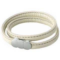 【erg】 エルグレザー 本革製(ブレスレットダブルorネックレス) XLホワイト -ダーツアクセサリー-