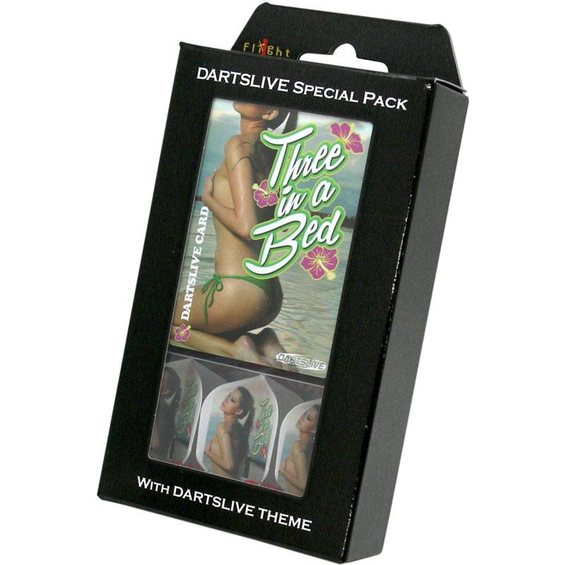 【限定品】DARTSLIVE】DARTSLIVE CARD  Special Pack FlightL THREE IN A BED ダーツライブ ゲームカードスペシャルパック フライトエル スリーインアベッド テーマ付き
