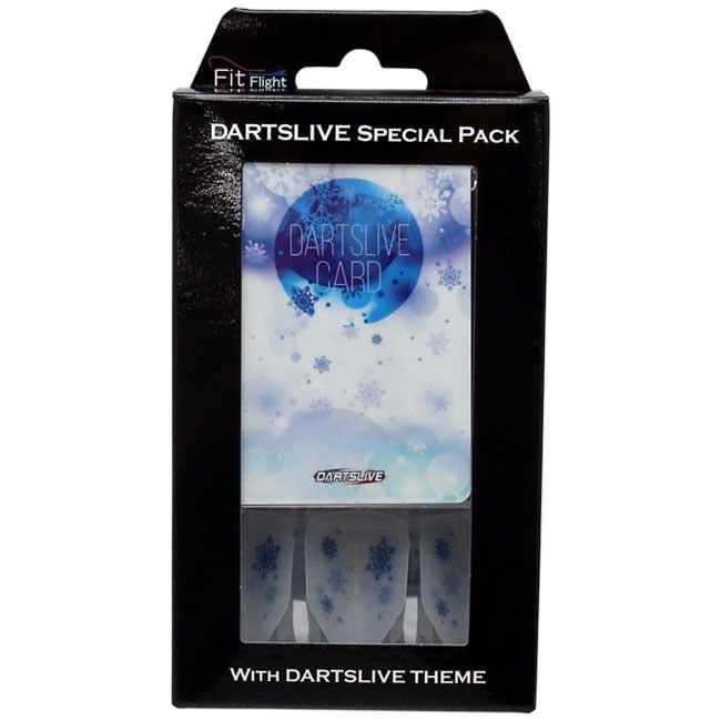 【dartslive】DARTSLIVE CARD Special Pack  Fit Flight フィットフライト ダーツライブカード SnowCrystalホワイト