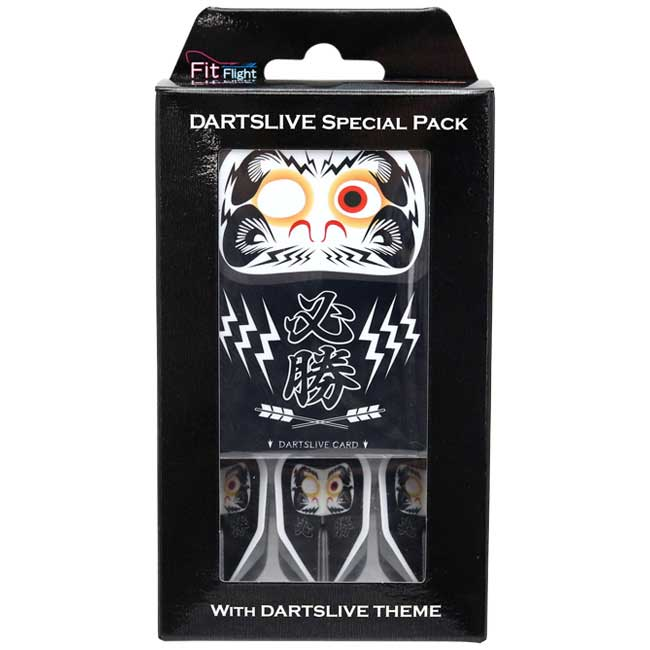 【dartslive】DARTSLIVE CARD SpecialPack FitFlight 達磨 黒 ダーツライブカード&フィットフライト&テーマ限定パック