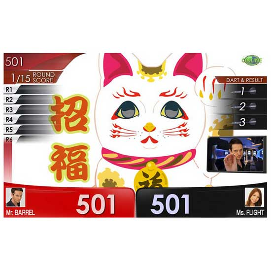 【dartslive】DARTSLIVE CARD SpecialPack FitFlight 招き猫 白 ダーツライブカード&フィットフライト&テーマ限定パック