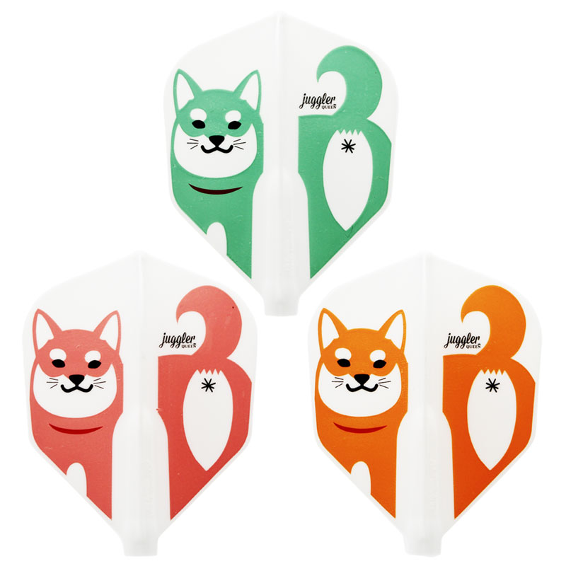 【JugglerQUEEN×FitFlightAIR】Colorful Shiba Inu シェイプ ジャグラークイーン×フィットフライトエアー カラフル柴犬 ダーツ用