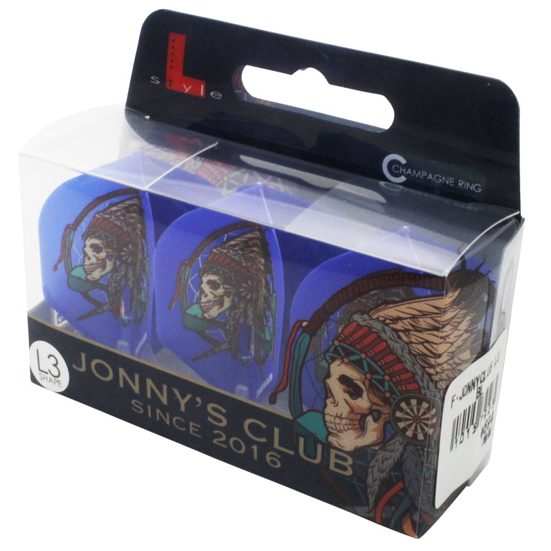 【Jonny's Club】 JONNY×フライトエル シャンパンリング対応 L3(スモール) 安食賢一 ダーツ用 ブルーベース