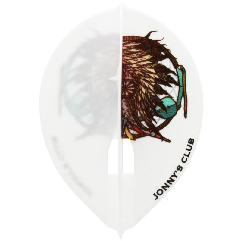 【Jonny's Club】 JONNY×フライトエル シャンパンリング対応 L2(ティアドロップ) 安食賢一 ダーツ用 ホワイトベース
